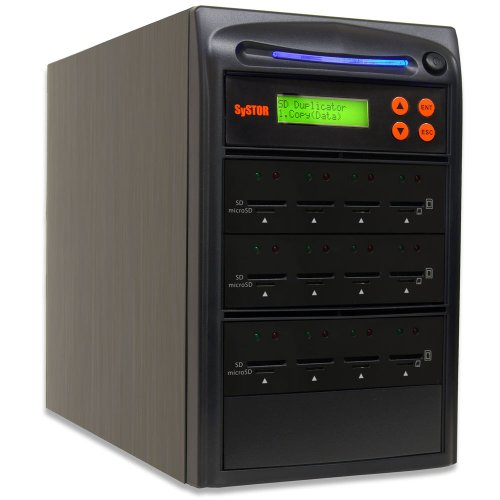 SySTOR 1 to 11 Multiple SD/microSD Drive Memory Card Reader Duplicator / Copier (SD-11)