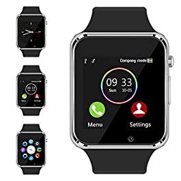 Smart Watch – Sazooy Bluetooth Smart Watch Support Make/Answer Phones Send/Get Messages Compatible Android iOS Phones…