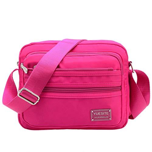 Imperméable Voyage CHENGYI À Sacs Nylon Pink Bag Satchel Sac Épaule Crossbody À Dames Main Casual Messenger l'eau xqnnA1PwR