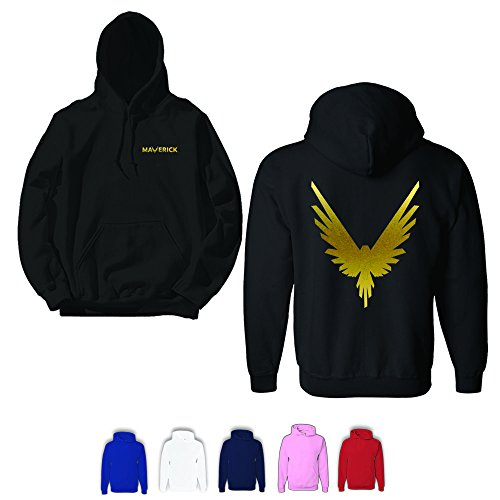 American Traders Gold Maverick Adult Unisex Hoodie Red