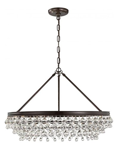 Crystorama Calypso 6 Light Crystal Teardrop Chrome (Crystorama Lighting Chandelier)