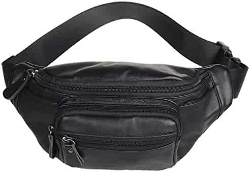 Polare Genuine Leather Fanny Pack / Waist Bag / Organizer (Classic Style)