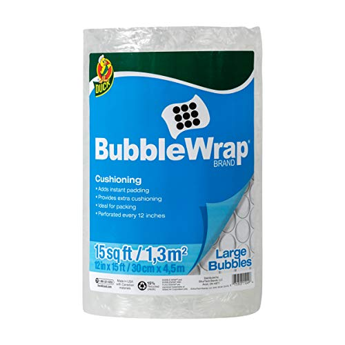 Bubble Wrap Cushioning Material - Duck Brand Large Bubble Wrap Roll, 5/16