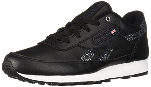 Reebok Women's Classic Renaissance Walking Shoe, Black/ash Grey/White/s, 7.5 M US