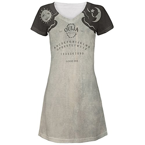 Ouija Dress Adult Womens Costumes (Halloween Ouija Board Costume All Over Juniors Cover-Up Beach Dress - Large)