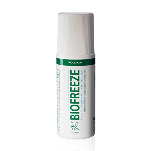 Biofreeze Pain Relief Gel For Arthritis  3 Oz  Roll On Topical Analgesic  Fast Acting   Long Lasting Cooling Pain Reliever Cream For Muscle  Joint Pain    Back Pain  Original Green Formula  4  Menthol