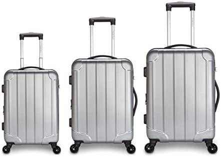 9deef17d4c26 Traveler Space 20/24/28 3-piece ABS Hardside Expandable 360 Spinner ...