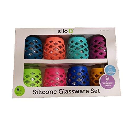 Ello 8-Piece Silicone Glassware Set