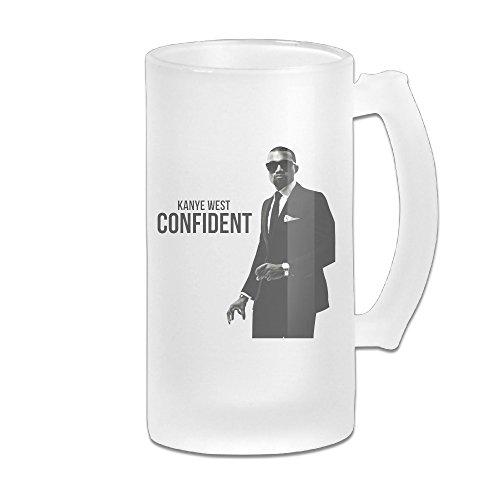KNIGHT Kanye West Hot Rapper Beer Glass Mug - High West Whiskey Glasses