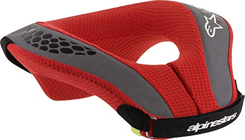 Alpinestars Boy's Sequence Youth Neck Roll, Black Red, Small/Medium (Best Football Neck Protection)