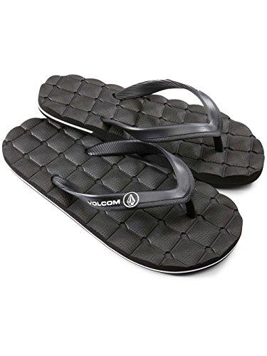Volcom Recliner Rubber SNDL, Men Thong Sandals Black