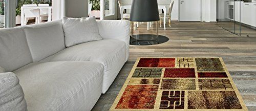 Maxy Home Hamam Frame Boxes Multicolor 2 ft. 8 in. x 9 ft. 10 in. Rubber Backed Runner Rug by Maxy Home