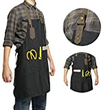 Lightweight Canvas Workshop Apron with Multiple