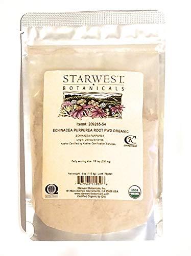 Organic Echinacea Purpurea Root Powder - 4 Oz 113 G - Starwest Botanicals