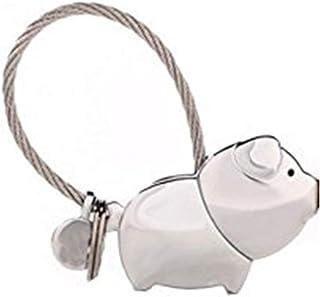 Aimant design créatif couple porte-clés mignon de porc Kissing douce Keychain Couleur Chrome mi ji