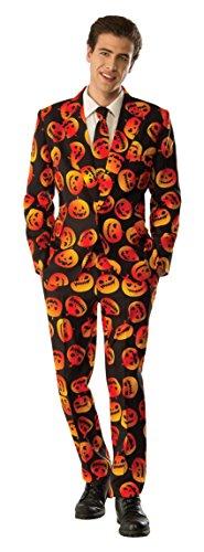 [Rubie's Men's Pumpkin Tuxedo, Orange/Black, X-Large] (Adult Pumpkin Halloween Costumes)