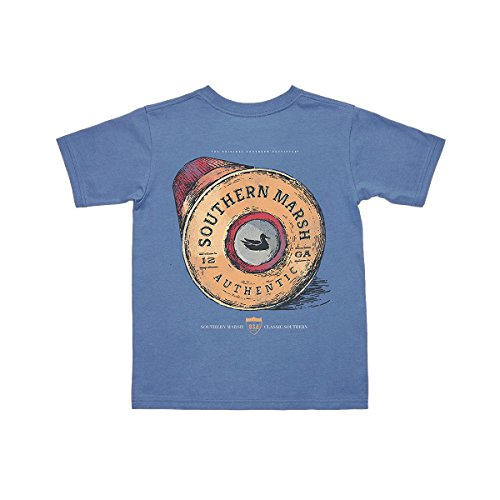 Southern Marsh Youth Shotgun Shell T-Shirt (Youth Large, Bluestone) by Southern Marsh
