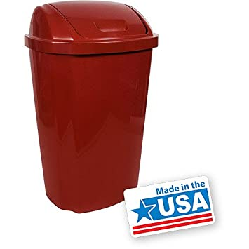 Amazon.Com: 13.5 Gallon Kitchen Trash Can, W/ Swing Lid, Garbage