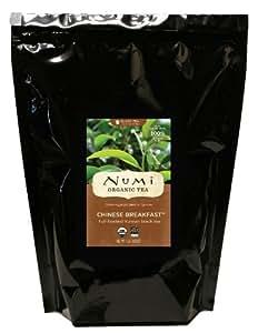 Numi Organic Tea, Chinese Breakfast Yunnan Full Leaf Black Tea, Loose Leaf, 16 Ounce Bulk Pouch