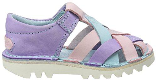 Kickers Mädchen Kick Weave Sandalen mit Absatz mehrfarbig (Multi)