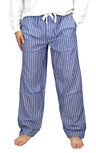 - Fruit of the Loom Men's Woven Pajama Pant (Blue/White Stripe, X-Large)