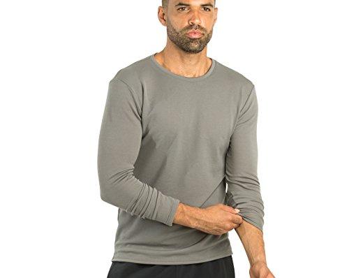 OLIVERS Apparel, Mens, Merino Wool Tech Mesh Terminal Long Sleeve T-Shirt (Smoke, Medium)