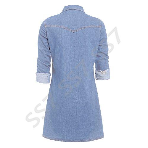 neuf rtro SS7 Denim Bleu Robe Bleu Chemise 14 Tailles 34 Jean F1dTdwq