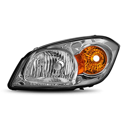 Fits 05-10 Chevy Cobalt | Pontiac 05-06 Pursuit | 07-10 G5 Sedan Coupe Chrome Headlights Headlamp Passenger [OE Style]