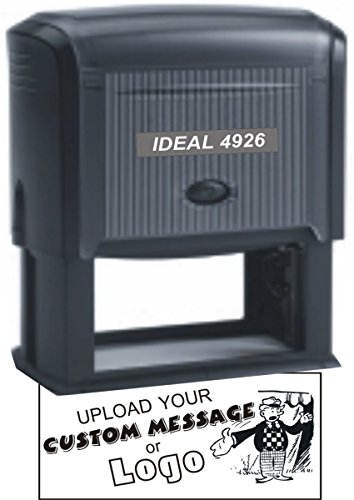 Extra Large Self Inking Stamp - Custom Message or Logo Logo Stamp
