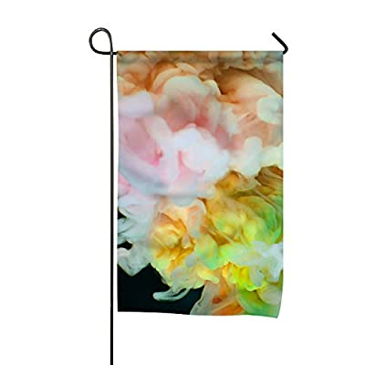 QIFEN Abstract Watercolor Double-Sided, Polyester, Yard Flag to Brighten up Your Home