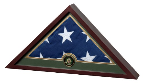 Allied Frame United States Army Flag Display Case with Embroidered US Flag by Allied Frame