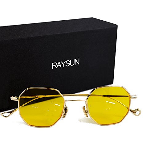 Sunglasses for women RAYSUN Small Metal Frame Asymmetry Temple Unisex Square Oval Non-polarized Sun - Sunglasses Best Faces Designer For Small