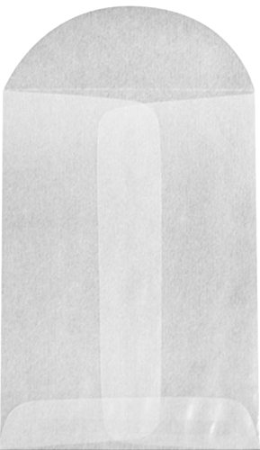#1 Coin Envelopes (2 1/4 x 3 1/2) - 30lb. Glassine (50 Qty.) | Perfect for the HOLIDAYS, Weddings, Parties & Place Cards | Fits Small Parts, Stamps, Jewelry, Seeds | GLASS-09-50