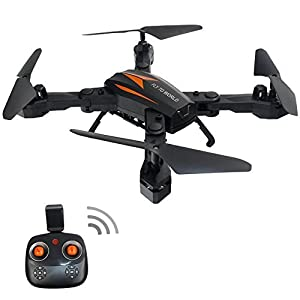 CSFLY Mini Drone Wifi 2MP HD Camera Foldable RC Drone APP Control With FPV Remote Control Drone 2.4 GHz 4CH 4-axis Gyro Remote Control Quadcopter RTF Rc Helicopter with Headless Mode Rc Quadcopter