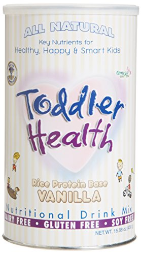 Toddler Health - Nutritional Drink Mix, Dairy, Gluten & Soy Free, Rice Vanilla 20 servings