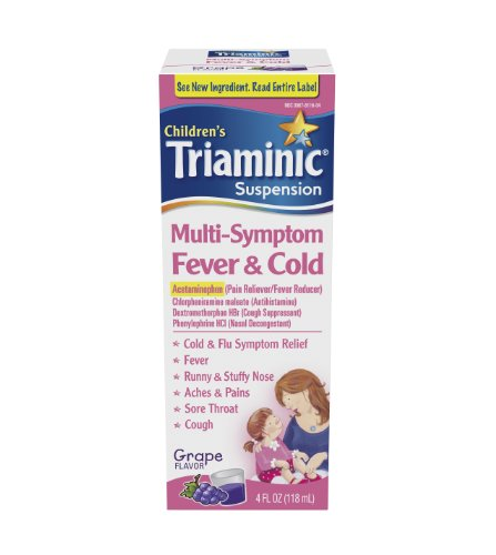 Triaminic Fever Mutli Symptôme et Cold Liquid, raisin, 4 once
