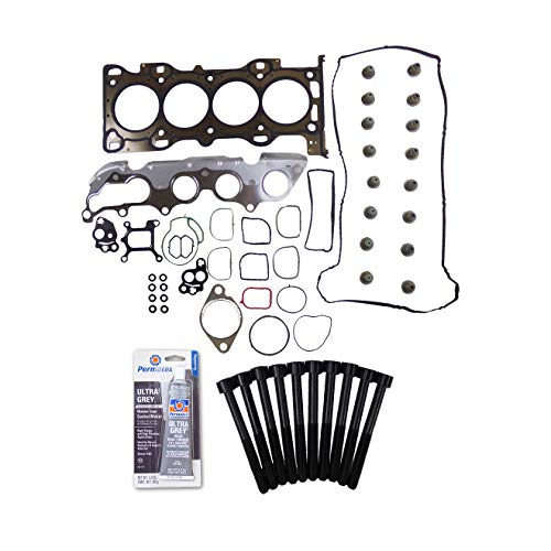 Head Gasket Set Bolt Kit Fits: 03-11 Mazda 3 5 6 Ford Focus 2.0L 2.3L DOHC DURATEC