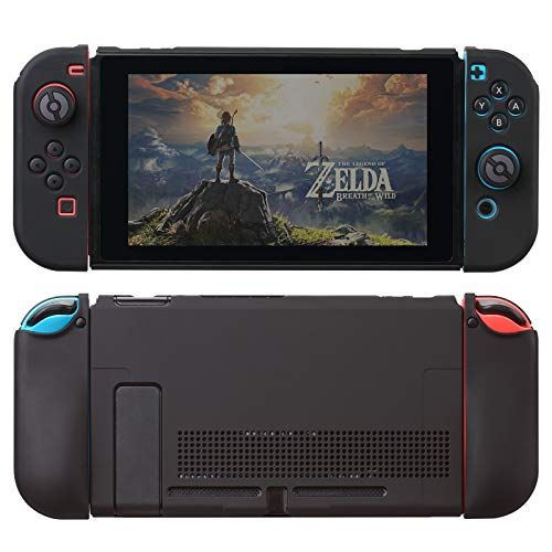 UYIYE Case for Switch - Protective Hard Case for Switch- Dockable TPU Shell Cover for Handheld Video Game Controller - Case Cover for Switch