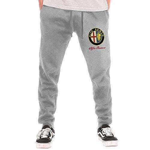 Men's Sweatpants Alfa Romeo Car Athletic Jogger Long Pants Gray