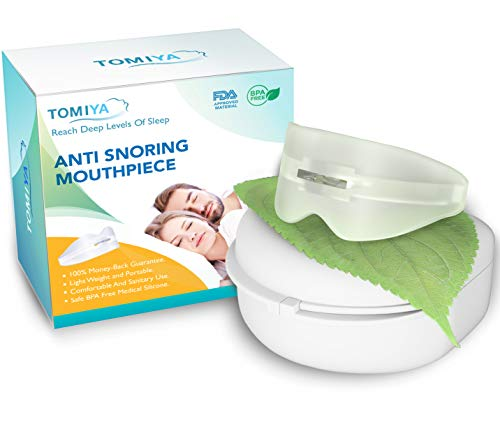 Tomiya - Snore Stopper Mouthpiece - Snoring Solution, Sleep Aid Night Mouth Guard Bruxism Mouthpiece, Best anti snoring device, sleep well and quiet sleeping night