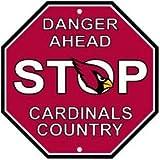 """NFL Arizona Cardinals Stop Sign, 12"""" x 12"""""""