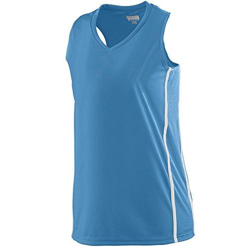 Casual Freedom V-neck Top - Augusta Sportswear WOMEN'S WINNING STREAK RACERBACK JERSEY S Columbia Blue/White
