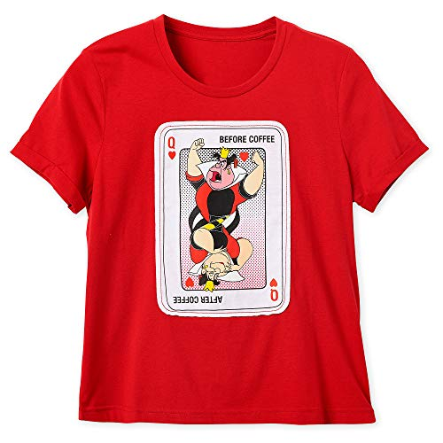 Disney Queen of Hearts T-Shirt for Women - Alice in Wonderland Size Ladies M Multi (Deadman Wonderland Shirt)