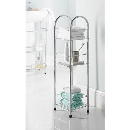 Chrome 3 Tier Bathroom Free Standing Shower Caddy: Amazon.co.uk ...