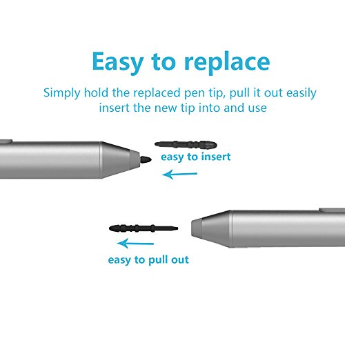 3 Pack for Microsoft Surface Pro 3 Black Replacement Magnetic Touch Stylus Pen Tips Parts (Touch Stylus Not Include)