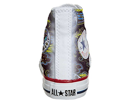 Converse All Star Customized - Zapatos Personalizados (Producto Artesano) Brown Paisley