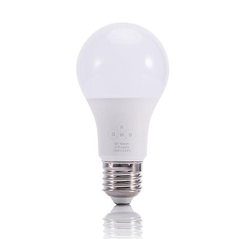 Bombilla LED inalámbrica de colores para fiestas, música y smartphones, con control remoto,
