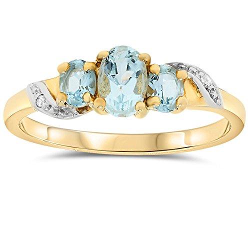10k Gold Genuine Gemstone - 5