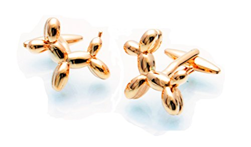 Rose Gold Balloon Dog Cufflinks Toy Cuff Links 011236-5 No Box