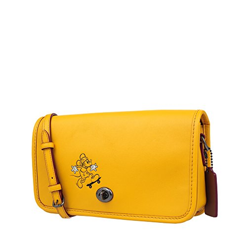 Calf Penny in Crossbody MICKEY Banana Mickey with Leather Glove COACH f5xaSX5